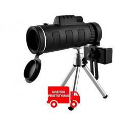 Objektyvo teleskopas telefonui ant trikojo 7883