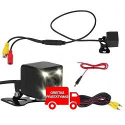 Parkavimo atbulines eigos kamera VIDEO RCA LED naktinis režimas 8827
