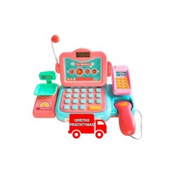Dideles parduotuves kasos aparatas vaikams, skaičiuokle 9514