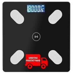 """Pažangi vonios kambario skale """"Smart Bluetooth Glass 9993"""""""