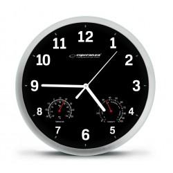 EHC016K Sieninis laikrodis juodas