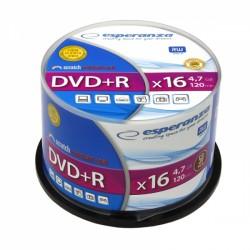 1115 Dvd+r esperanza 4,7gb x16 - cake box 50 szt.