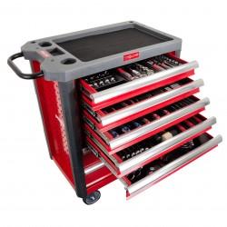 Szafka narzędziowa 7 szuflad z wyposażeniem 206 el. proline