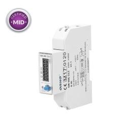 1 fazowy, wielotaryfowy licznik energii elektrycznej z portem RS485 i certyfikatem MID, 100A