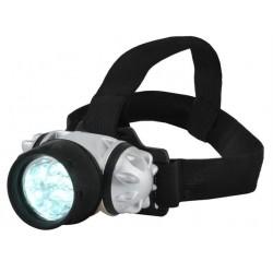 Reguliuojamas priekinis žibintas 7 LED platus ir elastinis priekiniu žibintu žibintuviu lempos galvos lankelis