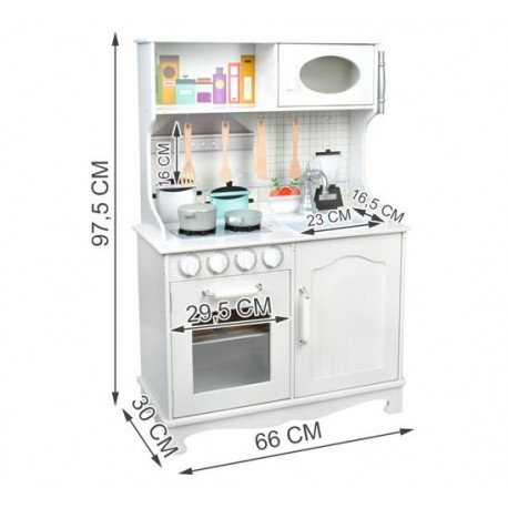 Medine virtuve • mediniai priedai ir 2 puodai rinkinyje • idealiai tinka mažam virejui • 97,5 x 66 x 30 cm • 4581
