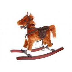 Didelis arkliukas, interaktyvus XL arklys, rudai baltas 4585