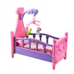 BED FOR DOLLS + CAROUSEL • linksmas putu žymeles • džiaugsis kiekviena mergaite • minkšta patalyne • moko vaiko atsakomybę ir ru