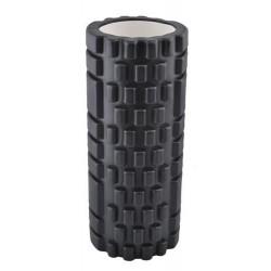 FOAM ROLLER • masažui • pratyboms • jogai • pilatesui • juodai • 32,5 x 13,5 x 2 cm • 760 g • nesukelia skausmo, melyniu ir yra