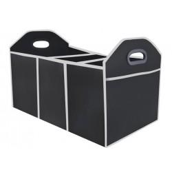 AUTOMOBILIU BAGAŽO ORGANIZATORIUS • Tvirti ir patogus rankeneles • 3 skyriai • 2 kišenes • juodos spalvos • 33 x 32 x 2 cm • 265
