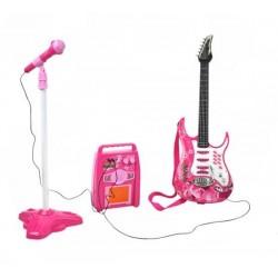 Rock Guitar Microphone Tripod Amplifier Vaiku gitara SET 4709