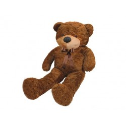 Plush Bear talismanas 130cm didelis, švelniai rudas pliušas 4656