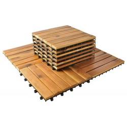 10 medinių plytelių 30x30cm