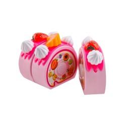 Pjovimo tortu žaislu tortas Šviesos žvakes Rosa 80 vnt. Stalo irankiai 7466