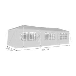 Sodo paviljono šventine palapine 3x9m 8 sienos B 7916