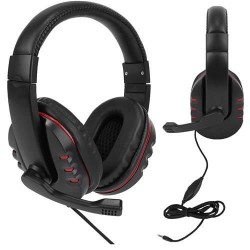 Žaidimu laisvu ranku iranga su ausinemis su mikrofonu mobiliojo telefono planšetinis kompiuteris juodas 8481