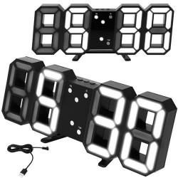 Laikrodis žadintuvas termometras LED