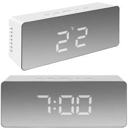 Laikrodis veidrodis žadintuvas termometras LED