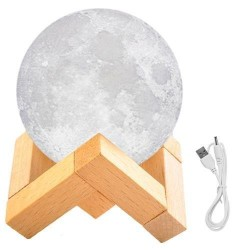 28836485 Naktinė lempa mėnulis, 8cm