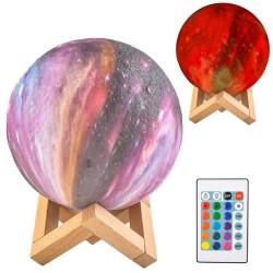 Spalvota lempa Mėnulis 15cm, 16 spalvų