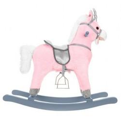 Vienaragis arkliukas arkliukas Interaktyvus arklys 74 Rožinis-sidabrinis 9337
