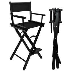 Makiažo kėdė, sulankstoma, juoda