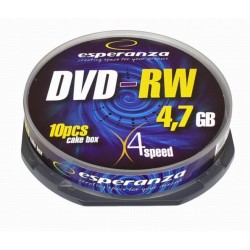 1011 Dvd-rw esperanza 4,7gb x4 - cake box 10 szt.