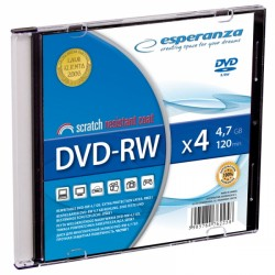 1013 Dvd-rw esperanza 4,7gb x4 - slim case 1 szt.