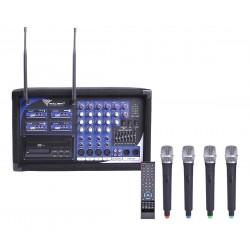 Mik0123 Mikrofonas Pa-180 Uhf 4 Kanalų (4 Mikrofonai Žaliavą)