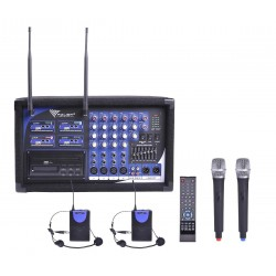 Mik0124 Mikrofonas Pa-180 Uad Keturis Kanalus (Du Mikrofonai Ranka Lankelis + 2)