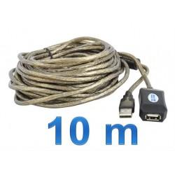 USB 2.0 aktyvus prailginimo kabelis 10m