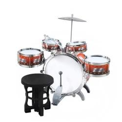 Drums 5 Drum Cymbal Stool Toy Set