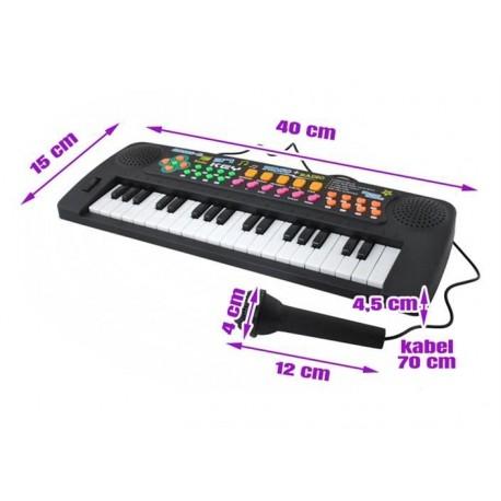 Jonika Vaiku klaviatura + mikrofonz 37 klavišai Melodijos tonai