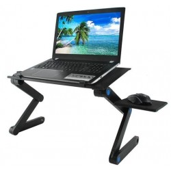 """Nešiojamu kompiuteriu stalviršio aukščio reguliuojamas USB aušinimo peles kilimelis """"Black Bed"""" sofas"""