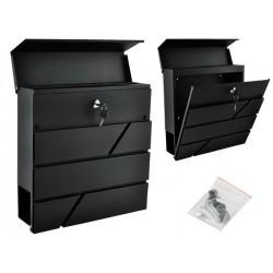 Pašto dėžutė antracitas 2 raktai saugumo atvartas lengvai surinkti 6238