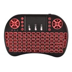 """""""Bluetooth"""" klaviaturos klaviatura """"Bluetooth"""" 2,4 GHz 10 metru QWERTY apšviestas 3 spalvos 5605"""