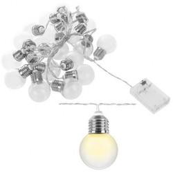 20-ies šventiniu pasaku lempučiu šiltame baltame plexiglas rutulyje veikiantis akumuliatorius, naudojamas vaiku kambariui. Kaled