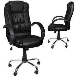 Pasukama biuro kede Tilt Office kede chromuota juoda 8983
