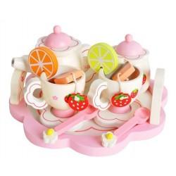 Vaiku arbatos rinkinys Mediniai reikmenys vaiku virtuvei, 16 vnt. nuo 3 metu Vaidmenu žaidimas mergaitems ir berniukams 9418