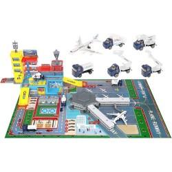Didelis vaiku oro uosto lektuvas + automobiliu baze 9507