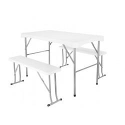 Sulankstomas sodo stalas + 2 suolai SO9998