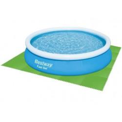"""""""Bestway 58265"""" Flowclear baseino grindu apsaugos plyteliu rinkinys, 8 dalys iš 81 x 81 cm, žalios spalvos 9889"""