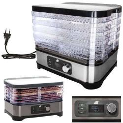 Maisto džiovinimo aparatas maistui 400W 35-70 ° C 5 vaisiu / mesos / vaisiu lygiai 10911