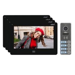"""Zestaw wideodomofonowy 4-rodzinny, bezsłuchawkowy kolor, LCD 7"""", dotykowy, menu OSD, pamięć, gniazdo na kartę SD, DVR, sterowani"""