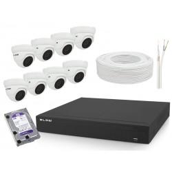 78-843 Zestaw XVR + 8 kamer 5MP + HDD2T BL-KITXVR85K