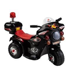 Vaikiškas juodas motociklas su šoniniais ratukais (WDLQ998)