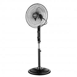Grindų ventiliatorius 80W, dirbtuvės, diam. 40 cm, 3 greičiai, svyravimas, nuotolinis valdymas