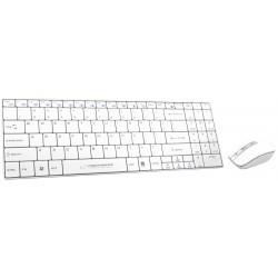 Ek122W Set Wireless Keyboard + Mouse 2.4Ghz Usb Liberty White