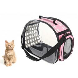 AG644R Gyvūnų transportavimo krepšys rožinis
