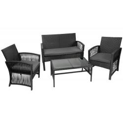 M11962 poli rotango sodo baldai - juodi